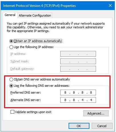 Enter DNS Server