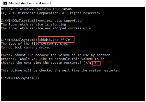 Disk Check in Command Prompt