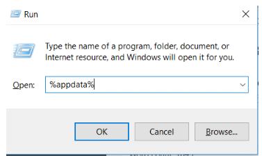 Type %appdata%
