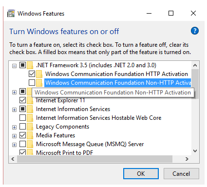 Turn on.Net Framework