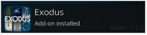 Exodus Add-on installed