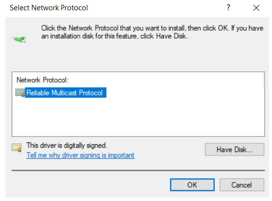 Reliable Multicast Protocol
